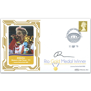 2016 Gold Medal Winners - Athletics - Womens Club Throw-F51 - Signed Joanna Butterfield MBE