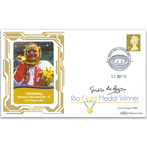 2016 Gold Medal Winners - Swimming - Womens 50m Butterfly Signed Susie Rodgers MBE