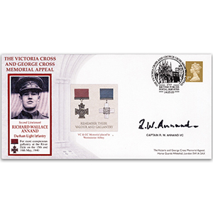 2003 Victoria Cross & George Cross Memorial Appeal - Signed by Capt. R.W. Annand VC