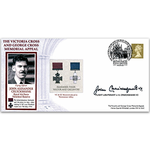 2003 Victoria Cross & George Cross Memorial Appeal - Signed by Flt. Lt. J. Cruickshank VC