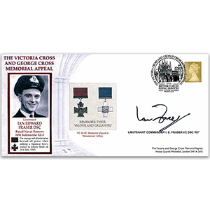 2003 Victoria Cross & George Cross Memorial Appeal - Signed by Lt. Cdr. Ian Fraser VC