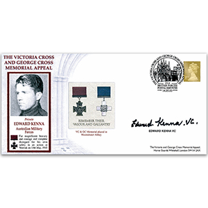 2003 Victoria Cross & George Cross Memorial Appeal - Signed by Pvt. Edward Kenna VC (Australian Army