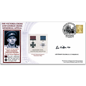 2003 Victoria Cross & George Cross Memorial Appeal - Signed by Lt. Col. E. Wilson VC