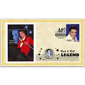 2008 Elvis 1968 Comeback 40th Coin Cover - 'Hard Headed Woman' - Antigua & Barbuda
