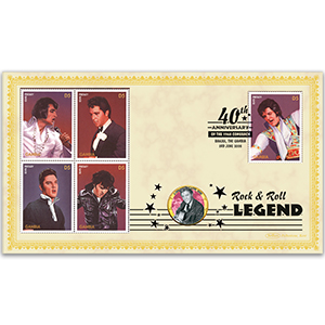 2008 Elvis 1968 Comeback 40th Coin Cover - 'Big Hunk O' Love' - Gambia