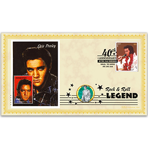 2008 Elvis 1968 Comeback 40th Coin Cover - 'Surrender' - Gambia