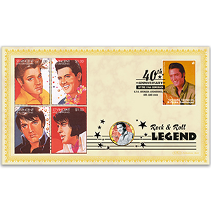 2008 Elvis 1968 Comeback 40th Coin Cover - 'Good Luck Charm' - Grenada
