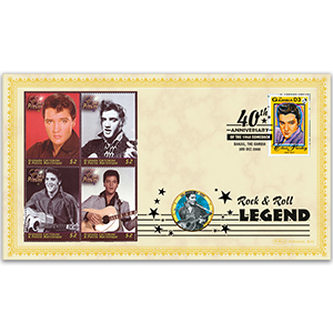 2008 Elvis 1968 Comeback 40th Coin Cover - 'All Shook Up' - Gambia