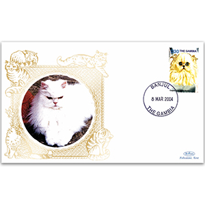 2004 Gambia Cats - Copper Eyed Persian D30