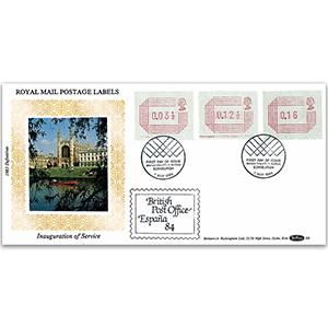 1984 Frama Labels - Espana 84 Cachet - Edinburgh Bureau Handstamp