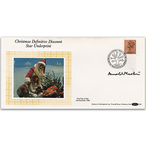 1986 Christmas Definitive Discount; Star Underprint - Signed by Arnold Machin