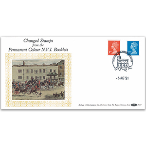 1991 Changed Stamps From Permanent Colour NVI Booklets