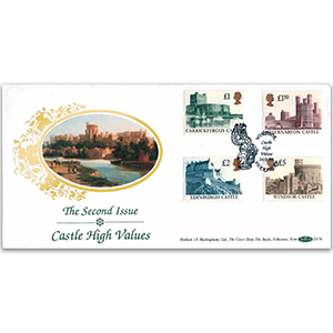 1992 Castle High Values - 2nd Issue - Windsor Handstamp