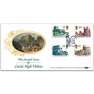 1992 Castle High Values 2nd Issue - Edinburgh Handstamp