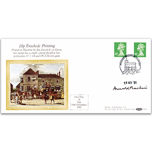 1991 18p Enschede Printing - Signed by Arnold Machin
