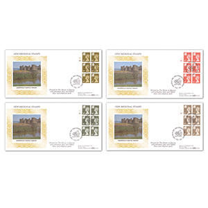 1993 Welsh Regional Cylinder Blocks - Cardiff FDI - Set of Four