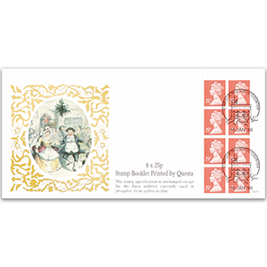 1996 8 x 25p Booklet Printed by Questa Windsor Counter Handstamp