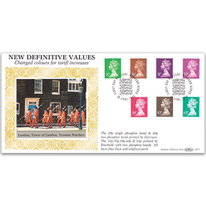 1996 New Definitive Values - Changed Colours for Tariff Increases