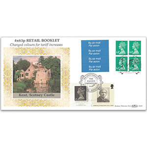 1996 4 x 63p Retail Booklet - Doubled 2007 for Machin 40th