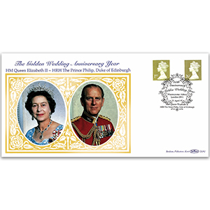 1997 Two Golden Definitives - Golden Wedding Year - Westminster Abbey Handstamp
