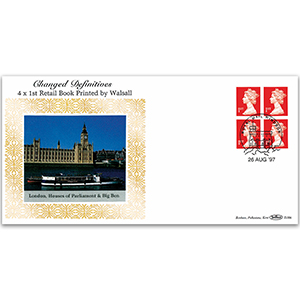 1997 Changed Definitives - 4 x 1st Retail Book - Printed by Walsall