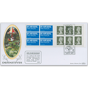 2002 6 x 42p Retail Booklet - Hampton, Middlesex Handstamp