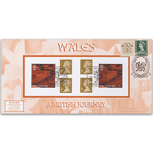 2008 A British Journey - Wales Retail Booklet - Mrthyr Tydfil Handstamp - Doubled 2008