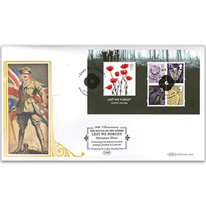 2006 Lest We Forget M/S - Four Se-tenant Country Stamps