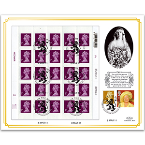 2011 Machin Definitive 1p Sheet - 2000 Queen Mother Commemorative