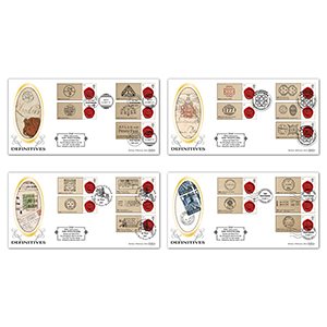 2011 350th Anniversary of the Postmark Generic Sheet Definitive - Set of 4
