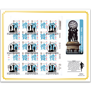 2011 Olympic Definitive Sheet - Worldwide Upper - London E15 Handstamp
