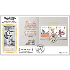 2012 Roald Dahl PSB Definitive Cover - 68p/1st/76p Pane