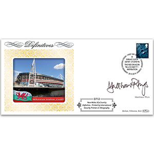 2014 Regional New Value- Wales 97p Definitive Cover - Signed Matthew Rhys