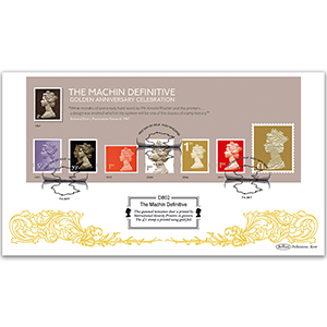 2017 Machin M/S - Golden Anniversary Celebration - Benham Defintive Cover