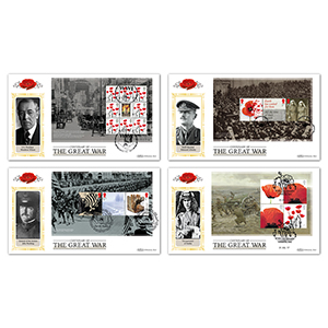 2017 WWI PSB - Benham Set of 4 Definitive Covers