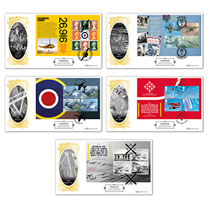 2018 RAF 100th Anniversary PSB Definitive Set of 5 Covers