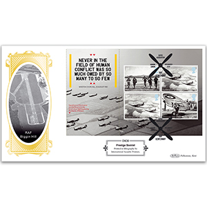 2018 RAF 100th Anniversary PSB Definitive Cover - (P3) 4 x 2015 Battle of Britain 4 x 1st
