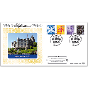 2018 Tariff Regional New Values Definitive Cover - Scotland 2nd, 1st, £1.25, £1.45