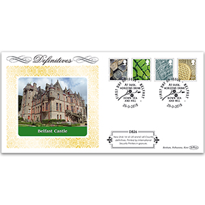 2018 Tariff Regional New Values Definitive Cover - Northern Ireland 2nd, 1st, £1.25, £1.45