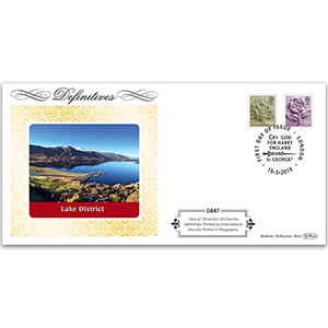 2019 Definitives - Tariff England New Values Definitive Cover