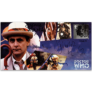 2001 Doctor Who Cover - Signed by Sylvester McCoy, John Sessions, Stephen Fry & Sophie Aldred
