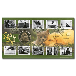 2001 Cats & Dogs Coin Cover - Signed by John Noakes