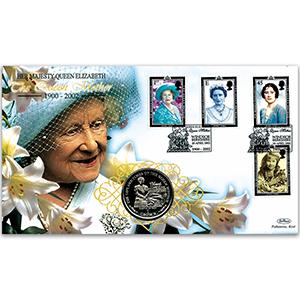 2002 HM The Queen Mother Memoriam Coin Cover