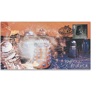 Dr Who Battle of the Daleks Cover Signed Sophie Aldred