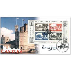 2005 Castles High Values 50th M/S -  Signed by Sir Richard Johns