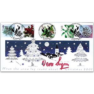 2002 Christmas Stamps - Holly Way - Signed by Dame Vera Lynn