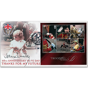 2005 Trooping the Colour M/S - Whitehall - Signed by Joanna Lumley OBE