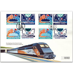 1994 Channel Tunnel Opening - French and British Commemoratives