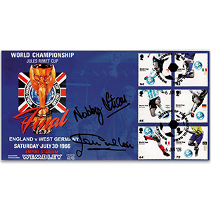 2006 World Cup - Signed by Nobby Stiles and Jackie Charlton