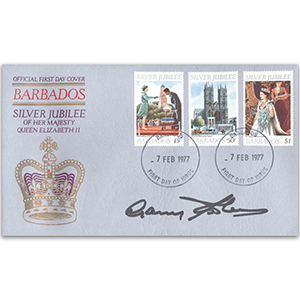 1977 Barbados - Silver Jubilee - Signed by Gary Sobers